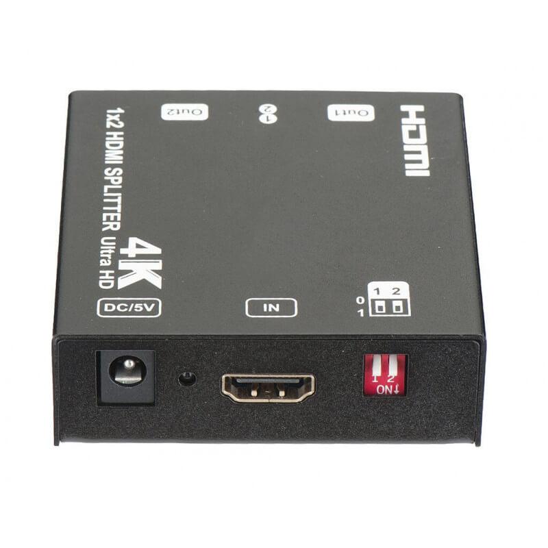 HDMI сплиттер 1x2. 4k@60Hz (3840x2160@60Hz YUV)