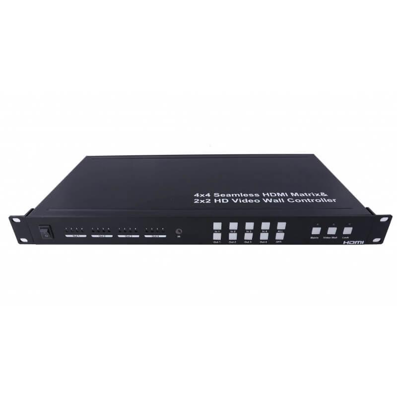 Матричный переключатель HDMI 4x4 с поддержкой контроллера видеостены 2x2