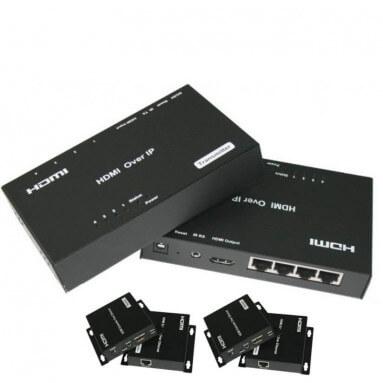 Удлинитель HDMI по витой паре 120м (4xRJ45) (комплект)