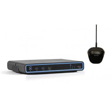 Потолочный микрофон и центральный блок Biamp Devio SCR-25C Black