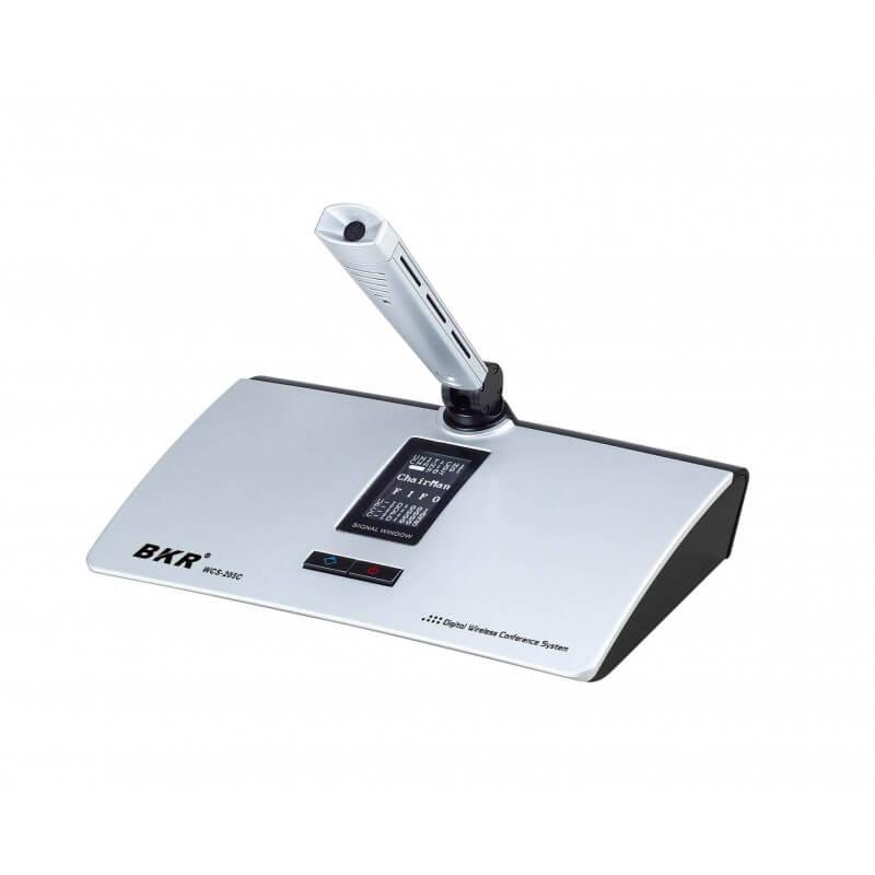 Микрофонный пульт председателя беспроводной BKR WCS-205C (микрофон 140 мм) Silver