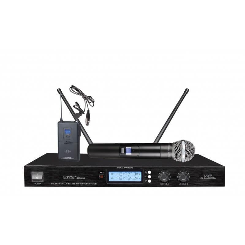 Радиомикрофоны BKR KX-D3820 (ручной и петличный)