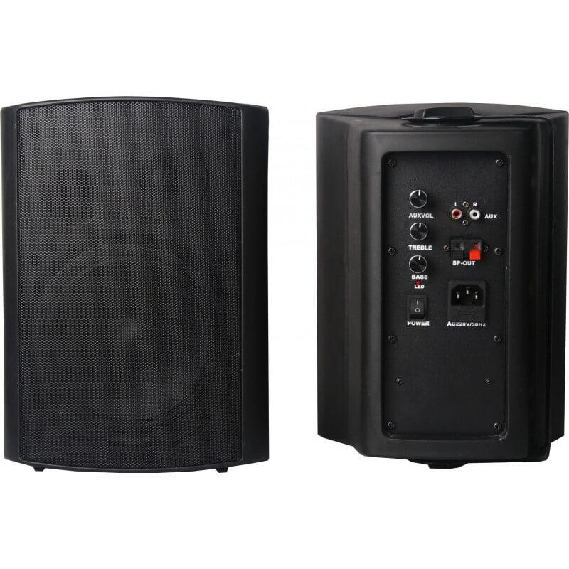 Настенная акустика CleverMic HYB106-6A (пара, черный, активная)