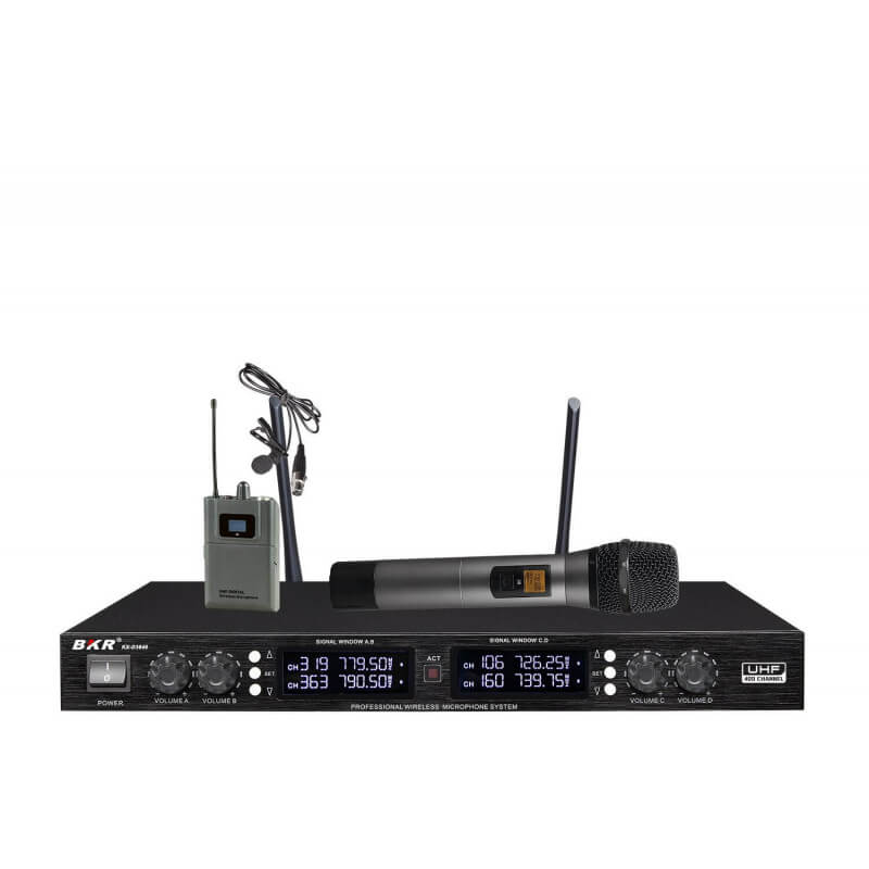 Радиомикрофон BKR KX-D3840 (два ручных + два петличных)