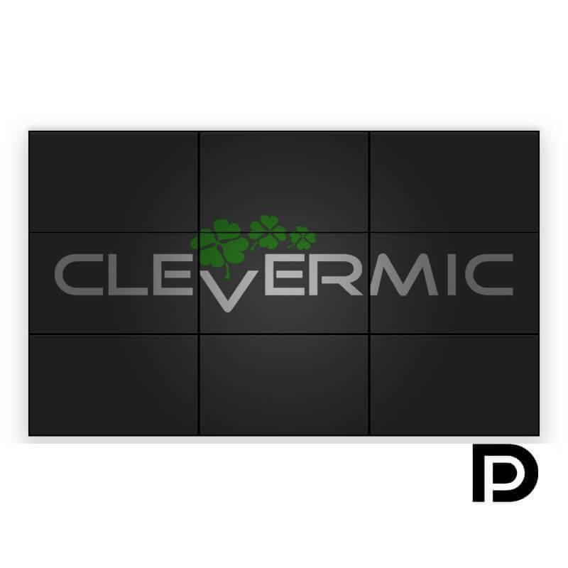 """Видеостена 3x3 CleverMic DP-W55-1.8-500 (FullHD 165"""" DisplayPort)"""