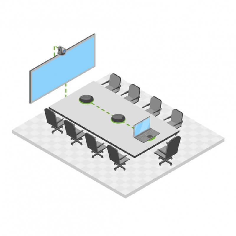 Средняя переговорная UnitRoom (до 10 человек)