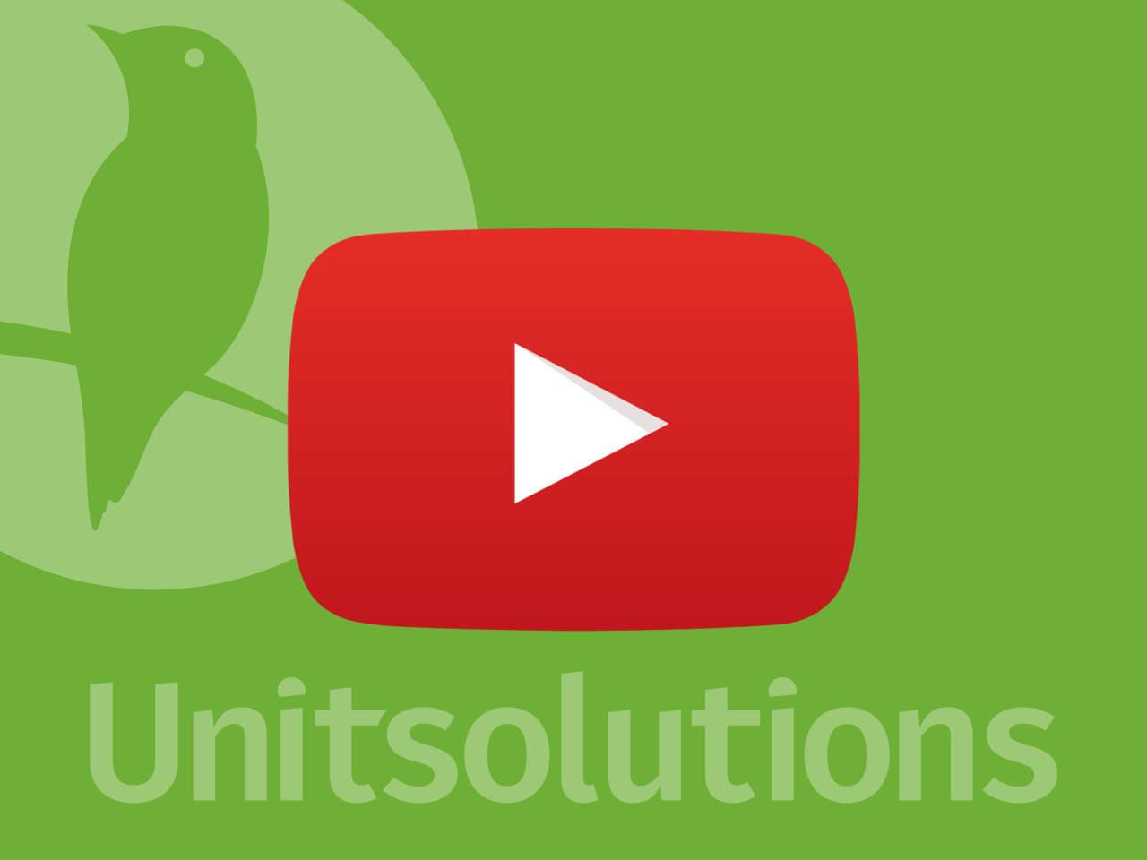 Unitsolutions на Youtube