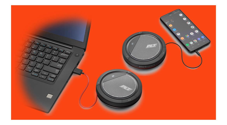 Портативные спикерфоны Plantronics Calisto для ПК и мобильных