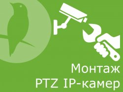 Монтаж PTZ IP-камер видеонаблюдения