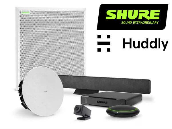 Комплекты оборудования для переговорных комнат от Shure и Huddly