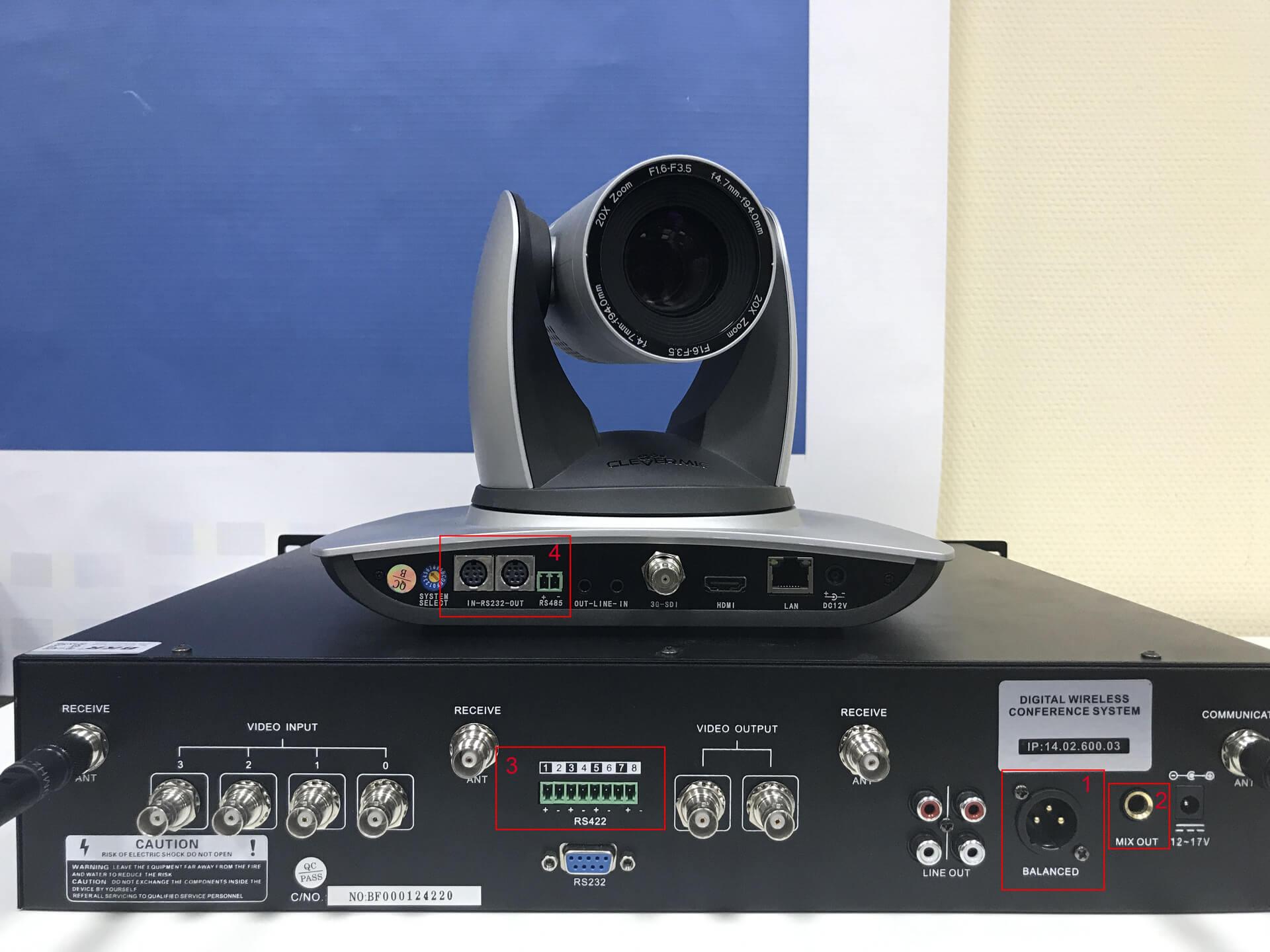 Подключение камеры CleverMic к конгресс-системе