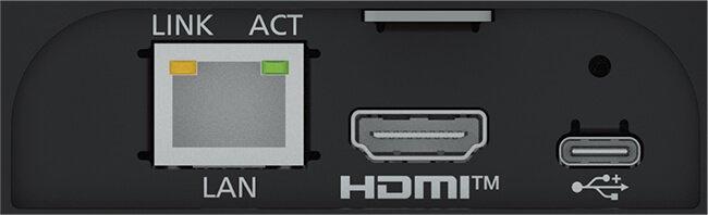 Интерфейсы задней панели PTZ камеры Panasonic AW-UE4 (4K UHD, 4x, USB-C)