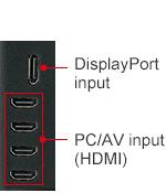 SHARP BIG PAD PN-65SC1 интерфейсы боковой панели