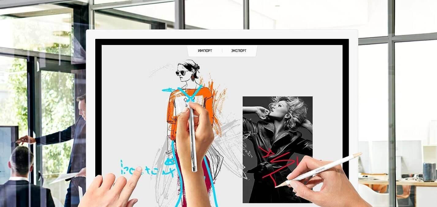 Интерактивная панель-флипчарт SAMSUNG FLIP WM55H 55