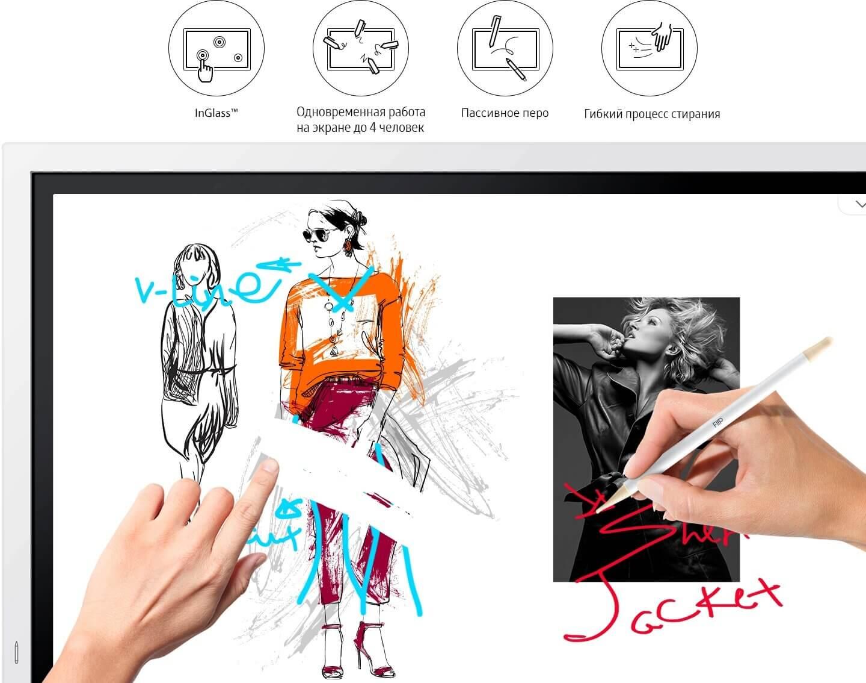 Заметки в режиме использования электронного пера Samsung Flip WM55R